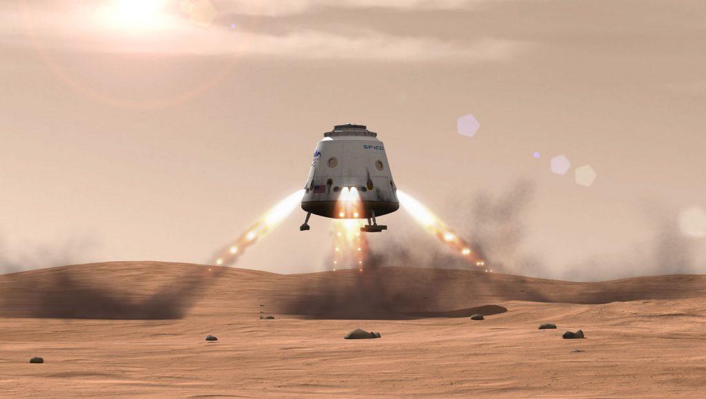 SpaceX Dragon - Atterraggio su Marta
